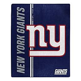 NFL New York Giants Royal Plush Raschel Throw