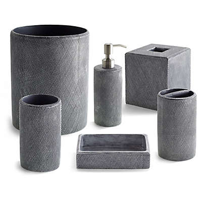 Kassatex Mesh Bath Ensemble in Grey