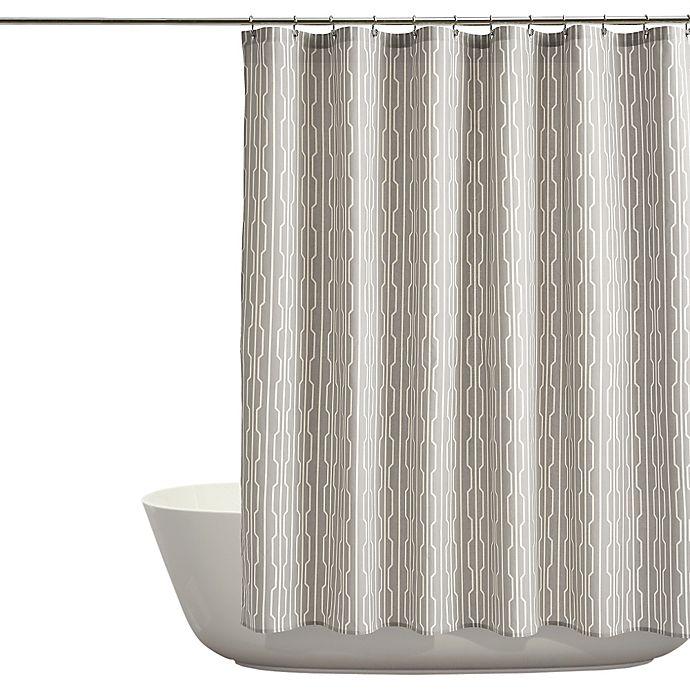 Auburn Shower Curtain In Grey