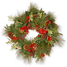 National Tree Company Decorative Collection 27-Inch Hydrangea Wreath