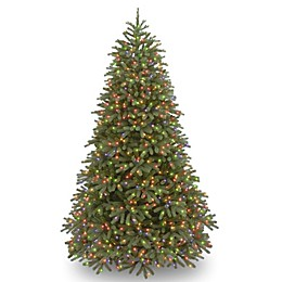 National Tree Company 7.5-Foot Pre-Lit Jersey Fraser Fir Christmas Tree with Multicolor Lights