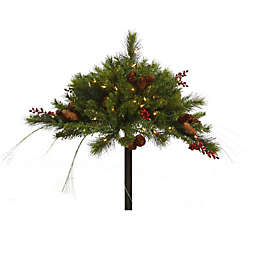 Vickerman Mixed Berry and Pine Cone Pre-Lit Urn Filler