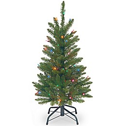 National Tree Company Kingswood 3-Foot Pre-Lit Fir Christmas Tree with Multi-Colored Lights