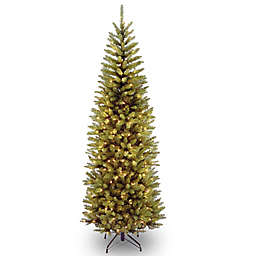 National Tree Company Kingswood Fir Pre-Lit Hinged Pencil Christmas Tree with Clear Lights