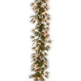 National Tree Company 9-Foot Liberty Pine Pre-Lit Garland with Clear Lights