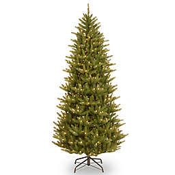 National Tree Company Natural Frasier Pre-Lit Slim Christmas Tree with Clear Lights