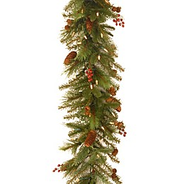 National Tree Company Battery-Operated 6-Foot Noelle Pre-Lit Christmas Garland