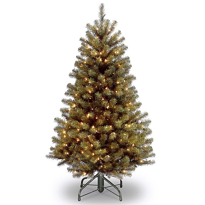 Alternate image 1 for National Tree Company 4-Foot 6-Inch North Valley Spruce Pre-Lit Hinged Christmas Tree w/Clear Lights