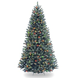 National Tree Company 7.5-Foot North Valley Blue Spruce Pre-Lit Christmas Tree w/Multicolor Lights