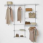 Rubbermaid® 3-Foot to 6-Foot Deluxe Closet Organizer Kit in White