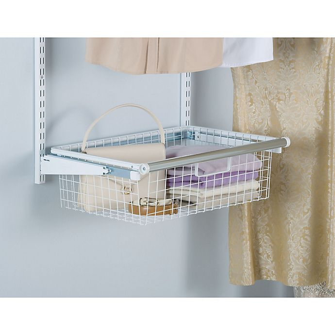 Alternate image 1 for Rubbermaid® Sliding Storage Basket for Closet Organizer Kits in White