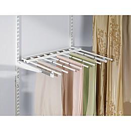 Rubbermaid® 7-Rod Sliding Pants Rack for Closet Organizer in White