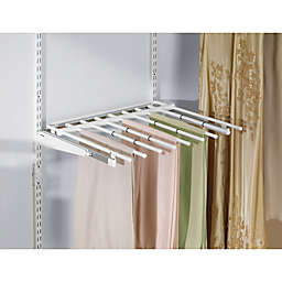 Rubbermaid® 7-Rod Sliding Pants Rack for Closet Organizer in White