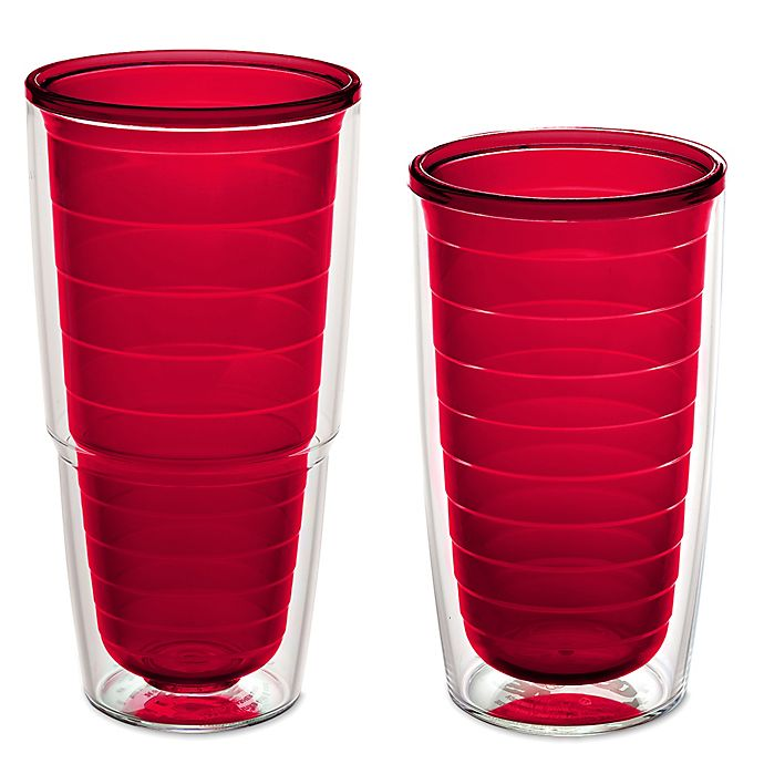 Alternate image 1 for Tervis® Clear and Colorful Red Tumbler
