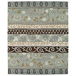 Kaleen Taj Colage Wool Rug in Mint