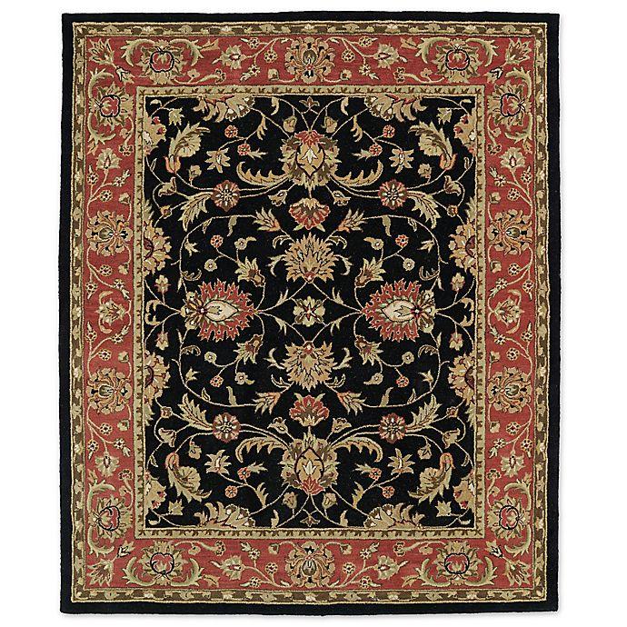 Alternate image 1 for Kaleen Taj Amol 7-Foot 6-Inch x 9-Foot Wool Rug in Black