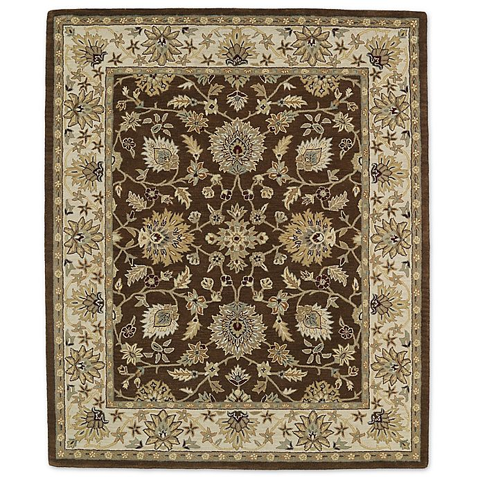 Alternate image 1 for Kaleen Taj Khoy 7-Foot 6-Inch x 9-Foot Wool Rug in Chocolate