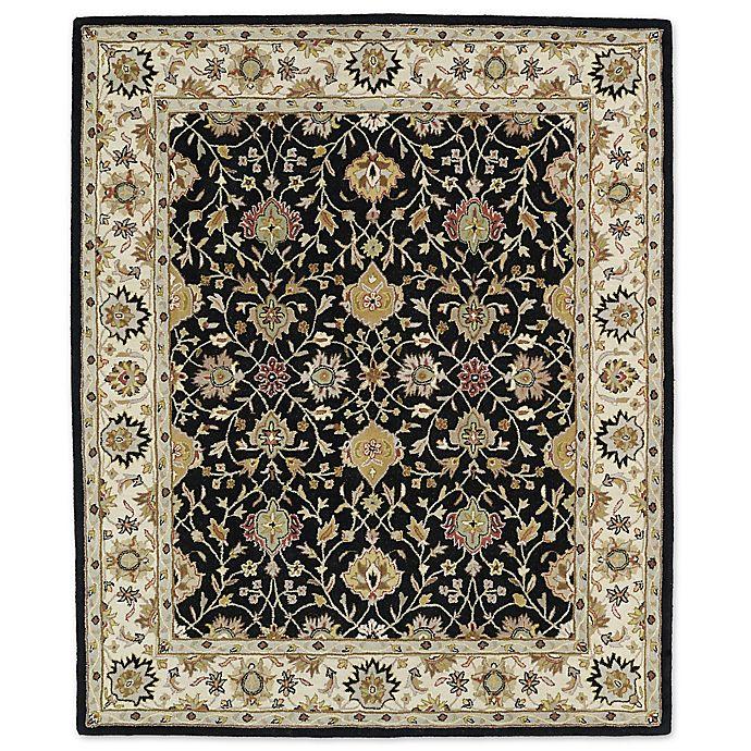 Alternate image 1 for Kaleen Taj Beneh Wool Rug in Black