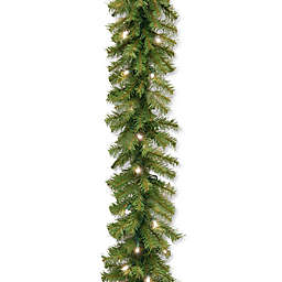 National Tree Company 9-Foot 10-Inch Pre-Lit Norwood Fir Garland with Warm White LED Lights