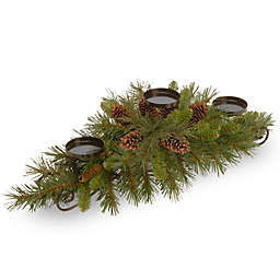 National Tree Company 2-Foot 5-Inch Pine Cone Centerpiece and Candle Holder