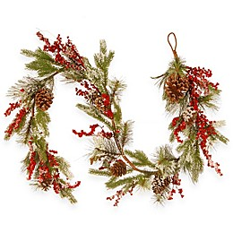 National Tree Company 72-Inch Berry and Cones Garland