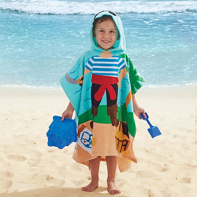 Alternate image 1 for Pirate Kids Hooded Towel