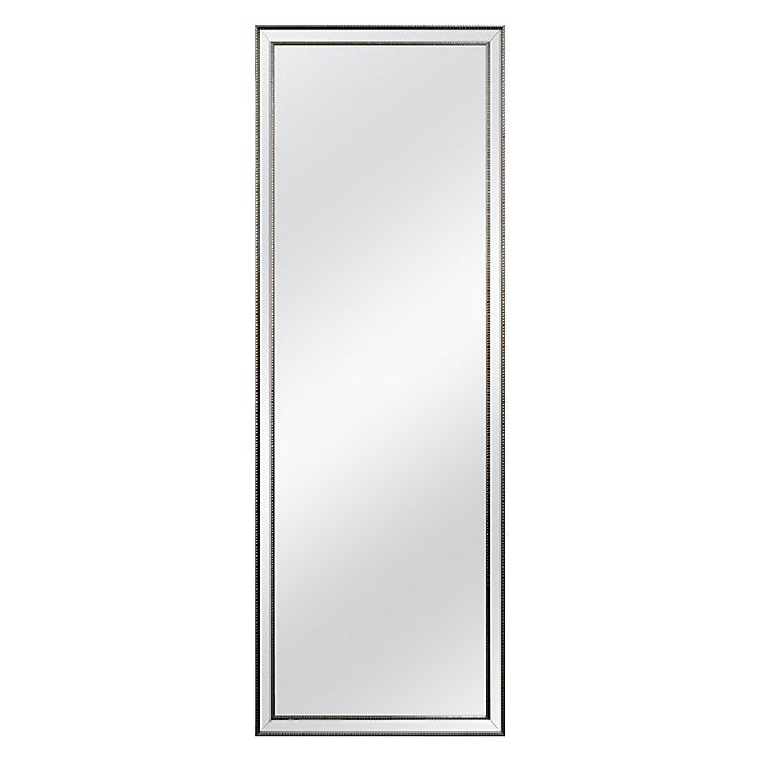 Alternate image 1 for Beaded 56.25-Inch x 19.75-Inch Over the Door Mirror in Antique Pewter