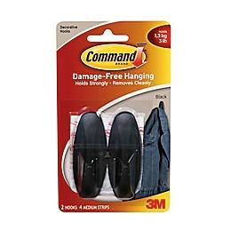 3M Command™ 2-Pack Medium Hooks in Black