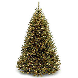 National Tree 7.5-Foot Rocky Ridge Medium Pine Pre-Lit Christmas Tree with Clear Lights