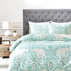 Deny Designs Elephant King Duvet Cover in Green