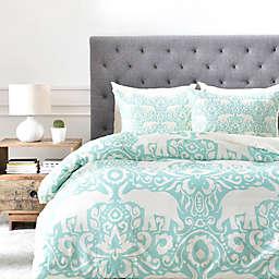 Deny Designs Elephant Duvet Cover in Green