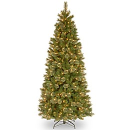 National Tree Company 7.5-Foot Tacoma Pine Slim Pre-Lit Christmas Tree with Clear Lights