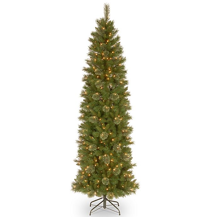 National Tree Company 7.5-Foot Tacoma Pine Pencil Slim Pre ...