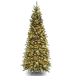 national tree company 9 foot pre lit tiffany fir slim christmas tree with clear