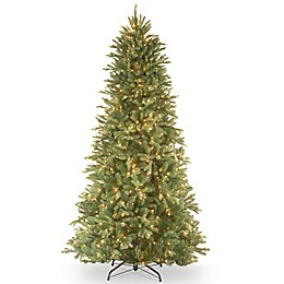 National Tree Company Pre-Lit Tiffany FirFeel-Real Slim Christmas Tree with Clear Lights