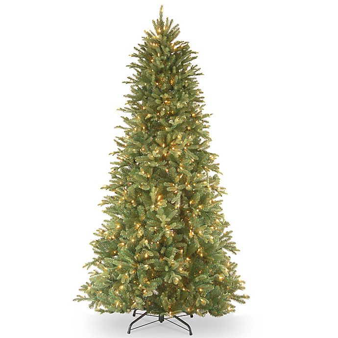 Alternate image 1 for National Tree Company Pre-Lit Tiffany FirFeel-Real Slim Christmas Tree with Clear Lights