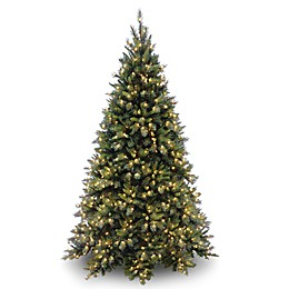 National Tree Company  Pre-Lit Tiffany Fir Christmas Tree with Clear Lights
