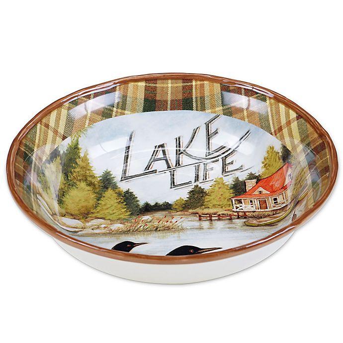 Alternate image 1 for Certified International Lake Life by Susan Winget Pasta Serving Bowl