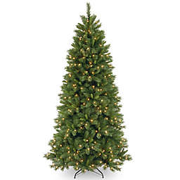 National Tree Company 7-Foot 6-Inch Lehigh Valley Pine Pre-Lit Christmas Tree w/Clear Lights