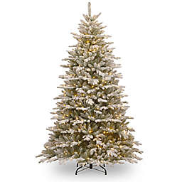 National Tree Company 7.5-Foot Snowy Sierra Spruce Pre-Lit Christmas Tree with Clear Lights