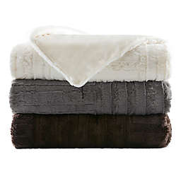 Madison Park Arctic Plush Down Alternative Throw Blanket