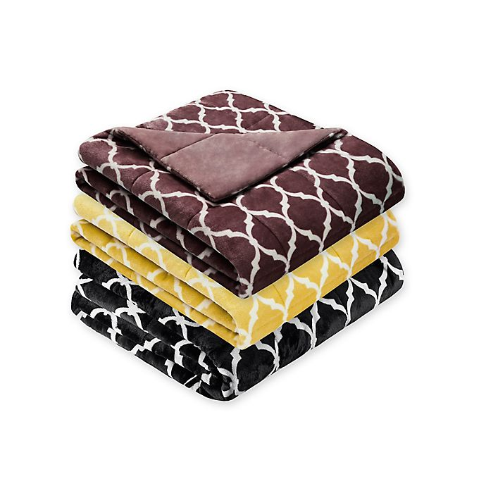 Alternate image 1 for Madison Park Ogee Oversized Throw Blanket