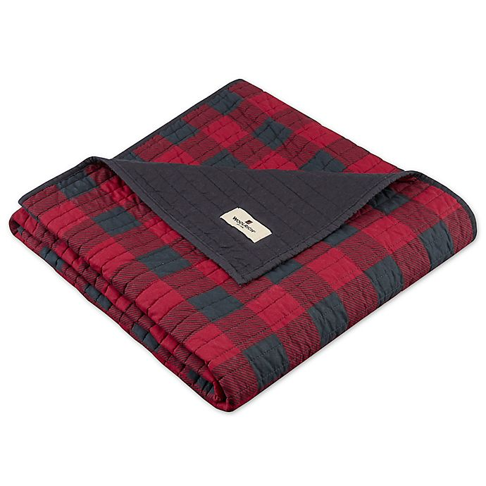 Alternate image 1 for Woolrich Check Quilted Throw in Red