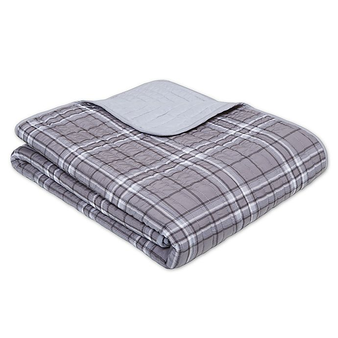 Alternate image 1 for Intelligent Design Daryl Oversized Quilted Throw Blanket in Grey