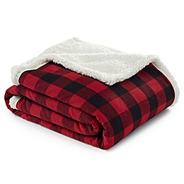 Eddie Bauer® Cabin Plaid Throw Blanket in Dark Red