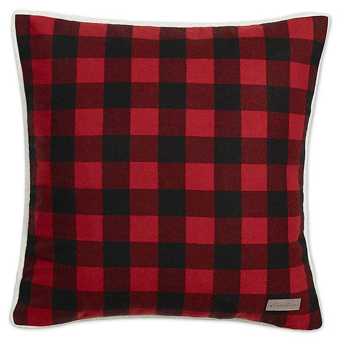 Alternate image 1 for Eddie Bauer® Cabin 20-Inch x 20-Inch Throw Pillow in Dark Red