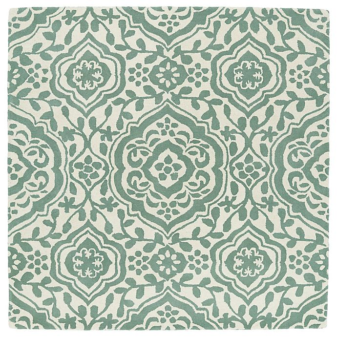 Alternate image 1 for Kaleen Tara Mumbai 3-Foot 9-Inch Square Accent Rug in Mint