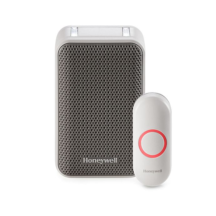 Alternate image 1 for Honeywell Series 3 Plug-In Wireless Doorbell with Strobe Light and Pushbutton