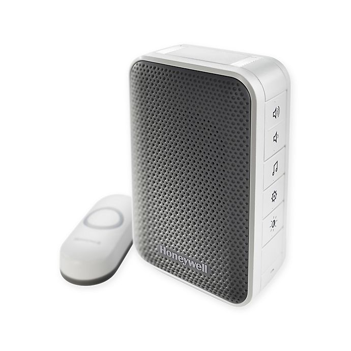 Alternate image 1 for Honeywell Series 3 Portable Wireless Doorbell with Strobe Light and Pushbutton