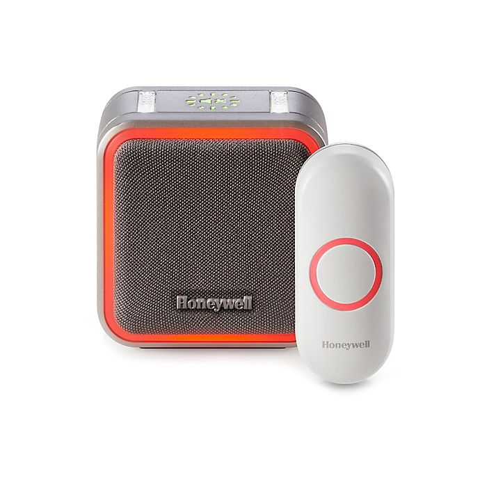 Alternate image 1 for Honeywell Series 5 Portable Wireless Doorbell with Halo Light and Pushbutton